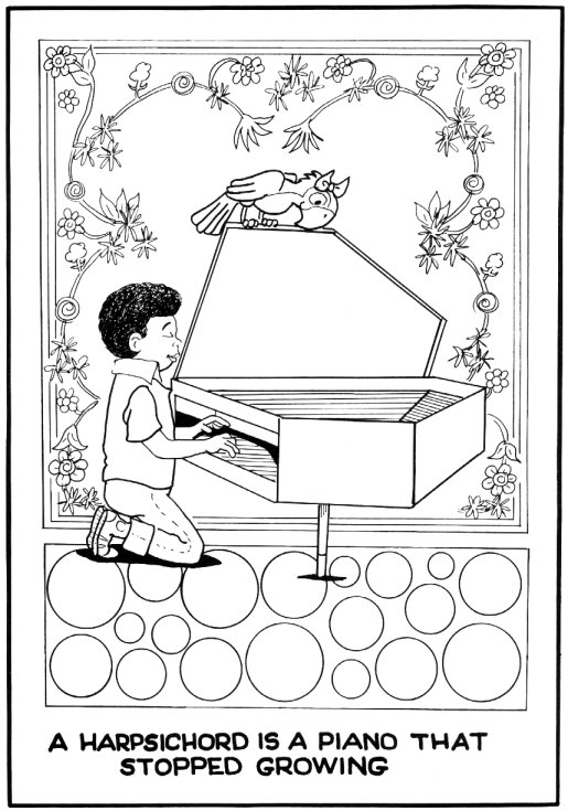 Harpsichord coloring pages for Harpsichord coloring page